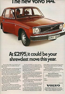 Volvo 144 Colour Magazine Advert