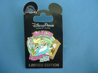ALICE  Disney Pin CAST MEMBER EXCLUSIVE 65th Anniversary 1951  Limited New Card