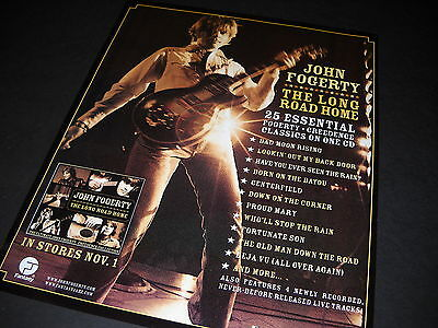 JOHN FOGERTY Striking 2005 PROMO DISPLAY AD The Long Road Home mint condition