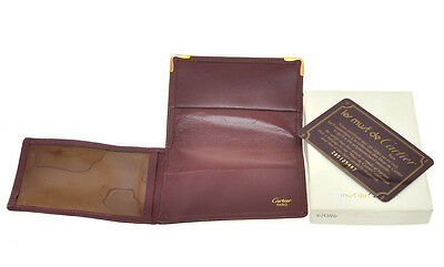 Cartier original burgundy leather Driving Licence holder new in box (defect)