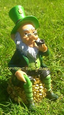 New Design Latex Mould Mold Moulds To Make Cement Garden Leprechaun Sat On Gold