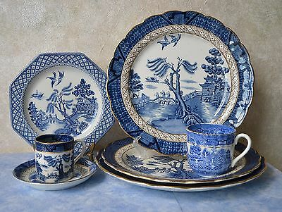 VTG BOOTHS REAL OLD WILLOW (c.1944-1981) REPLACEMENT SET: PLATES CUP & SAUCER