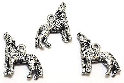 3 Pewter Coyote Charms - 0371