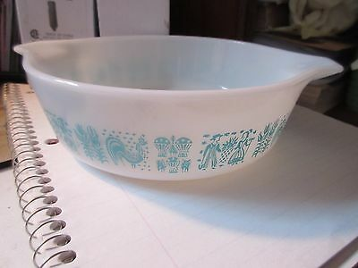 Pyrex Butterprint 1 pint tabbed handle casserole NO LID