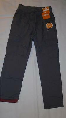NEW Boys Size 7 Gymboree Pants Gray Cargo Elastic Waist Jersey Lined RP $36 NWT