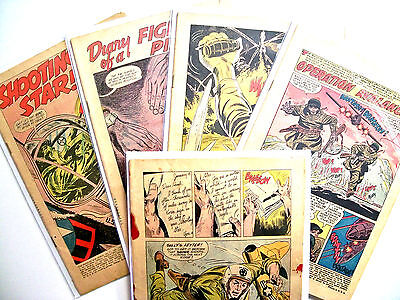 Gold & Silver Age War Lot of 12 Coverless Books OPG $64