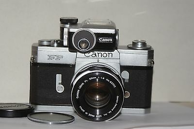 Rare To Find Canon FP 35mm SLR Camera With FL 50mm F1.8 Lens & FP Meter, Exc+++