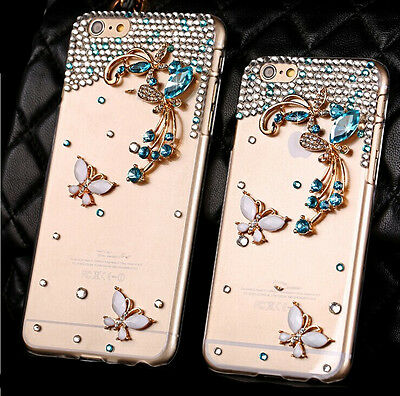 """Fashion Blue Butterfly Back Hard case Cover Skin For Apple iphone 6 6S plus 5.5"""""""