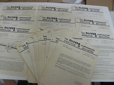 1954 Oliver Tractors Factory Service Bulletins