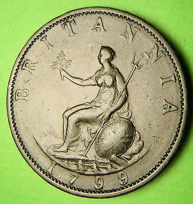 Great Britain 1799 Half Penny, Third Issue.