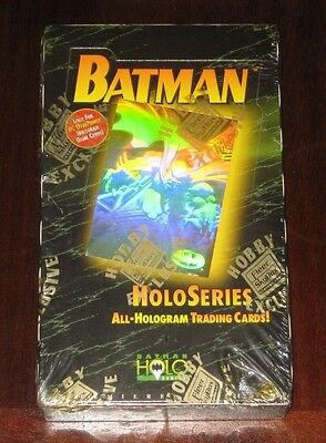 1996 Batman Holo-Series Box of 24 Trading Card Packs FACTORY SEALED, DC