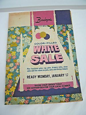 VTG BAMBERGER'S  1970's Sale Catalog--White Sale-- Retro Linens/Electronics