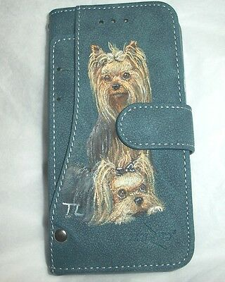 Hand Painted Yorkshire Terrier Yorkie i phone 6 / 6s  wallet case