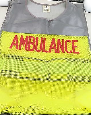 RARE / OBSOLETE c1990's AMBULANCE HI VIS SHIRT. MAKER APPLETON TRAFFIC EQUIPMENT