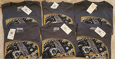 Wholesale lot - 6 NEW Adult Men s Graphic Logo T-shirt Star Wars Licensed
