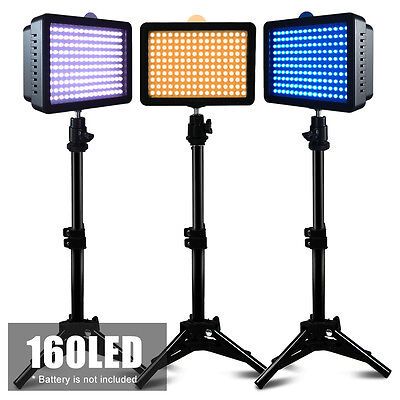 Photo 3 Set Studio Lighting Kit ( Dimmable Led Video Light + 80cm Light Stand)