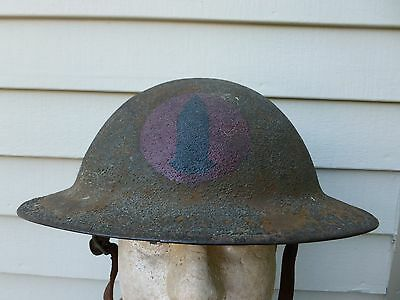 WWI US Army Painted Helmet Artillery Insignia 79th Division AEF WW1