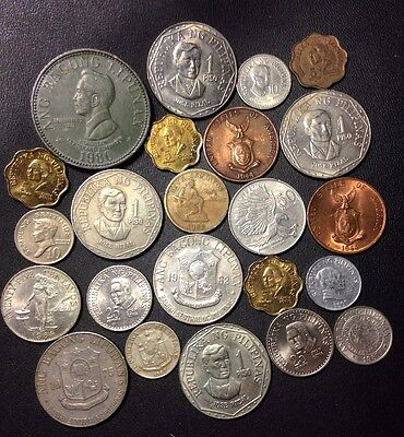 Old Philippines Coin Lot - 1944-Present - 23 Great Coins - Lot #718