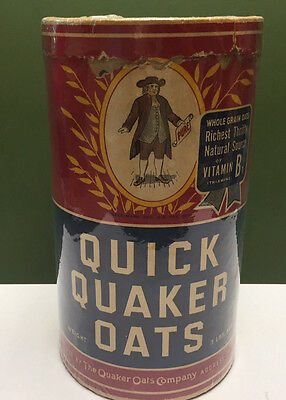 Early Original 1900--1920 Quick Quaker Oats Box 3 lb