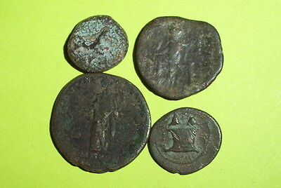 COLLECTION Ancient GREEK & ROMAN PROVINCIAL COINS old lot rare money treasure ae