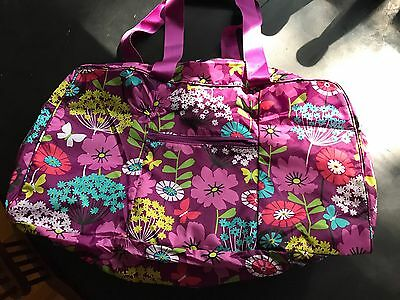 VERA BRADLEY LIGHTEN UP Flutterby DUFFEL FOLD UP TOTE..NEW Great Travel Bag