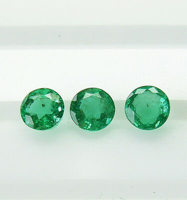 1.25ct!! NATURAL BRAZILIAN EMERALDS MATCHING SET +CERTIFICATE AVAILABLE