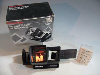 Vintage Pana-Vue By View-Master Automatic Lighted 2X2 Slide Viewer In Box