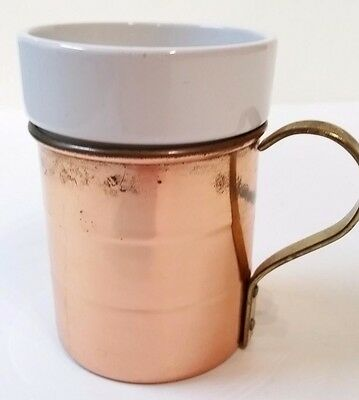 Copper Coffee mug with a brass handle Made in Korea
