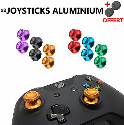 2X Stick Analogique Metal Aluminium Manette Xbox One Joystick Analog Thumb Grip