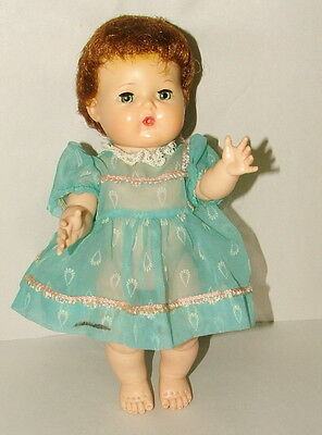 "! 1950s AMERICAN CHARACTER TINY TEARS DOLL 11"" TALL WITH ROCK-A-BYE EYES LOT1"