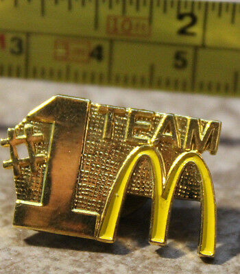McDonalds #1 Team Wide Gold Color Backing Employee Collectible Pin Button