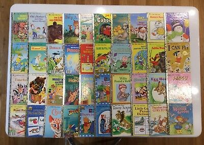 Little Golden Books Bulk Of 40 Mixed Collection Educational Reading