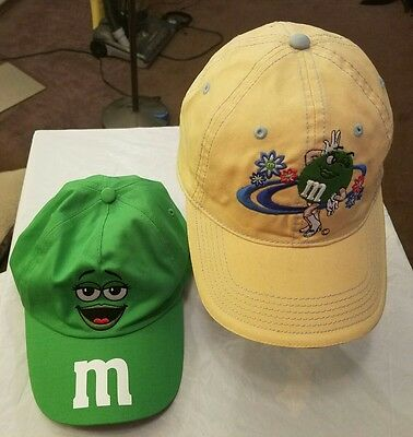 Lot of 2 M&M's Embroidered Caps,Chase Authentics,EX condition