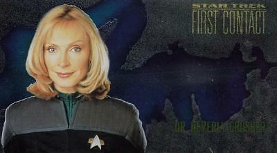 1996 Star Trek First Contact Character Card Beverly Crusher C6 NM/Mint condition