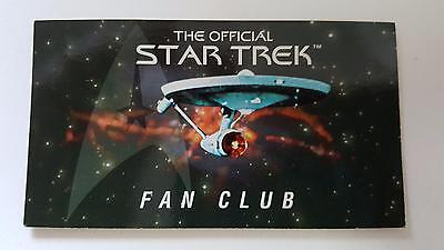 1996 Official Star Trek Fan Club membership promo card in NM/ Mint condition