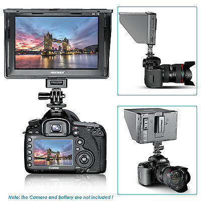 "Neewer 7"" DC-70 Clip-on Color TFT LCD Monitor HDMI for DSLR Camera Camcorder"