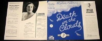 Death In The Clouds - 1935 by Agatha Christie - Facsimile Dustjacket Only