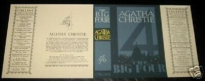 THE BIG FOUR - 1927 by Agatha Christie - Facsimile Dustjacket Only - No Book