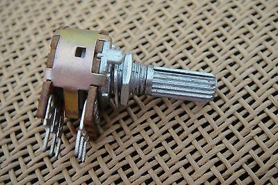Dual Double PCB Solder B-50K Potentiometer Rotary Switch 6mm Split Shaft Pots