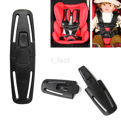 Hot Car Baby Safety Seat Strap Belt Harness Chest Child Clip Safe Buckle Black