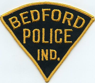 old vintage BEDFORD INDIANA IN POLICE PATCH