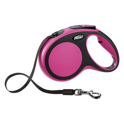 Flexi NEW Pink Comfort TAPE Retractable Dog Leash 5m