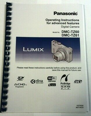 Panasonic Lumix Dmc Tz60 Tz61 Printed Instruction Manual User Guide 329 Pages A5