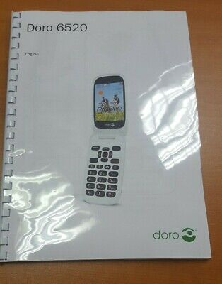 Doro 6520 Full User Manual Guide Instructions Printed 72 Pages