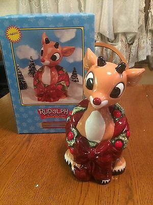 Enesco Rudolph and The Island Of Misfit Toys Cookie Jar Rudolph 725161