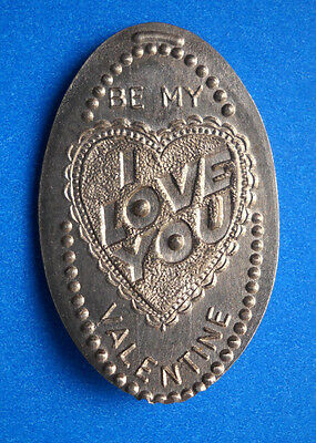 Be My Valentine elongated nickel not penny USA 5 cent I Love You souvenir coin