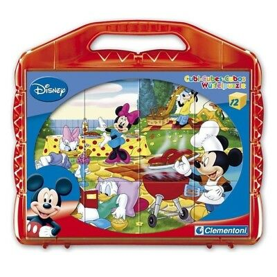 Mickey Maus - Würfel Puzzle Mickey Mouse 12 Teile