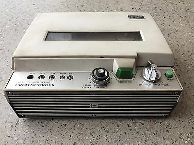 Vintage Crowncorder Ctr 5400 Tape Recorder For All Transistor Ultra Rare