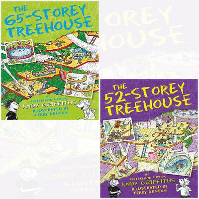 Treehouse Series Volume(65,52) Andy Griffiths Collection 2 Books Set NEW