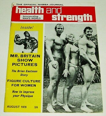 Health And Strength Magazine Mr. Britain Show Issue Uk Import 8/1970 Fine-